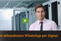 Roberto Mazzoni – 9-1-2021 Perché abbandonare WhatsApp e passare a Signal