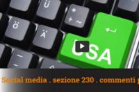 Roberto Mazzoni – Social Media, Sezione 230 e commenti privati